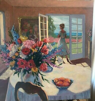 Original Oil On Canvas Painting By Suzanne Hoefler