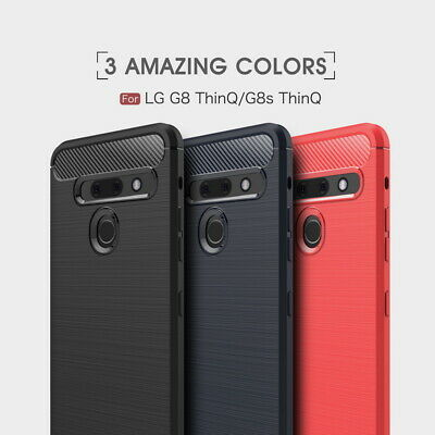 Shockproof Rubber TPU Thin Slim Carbon Case Cover For LG G8 THINQ K40 2019 G7 K8