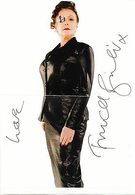 ENGLISH ACTRESS FRANCES BARBER HAND SIGNED 12 x 8 B&W PROMO PHOTOGRAPH