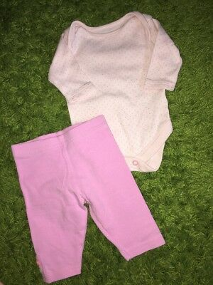 Next Girls Long Sleeve Body First Size3.4 Kg7.8lbs Leggings Reborn Baby Clothes?