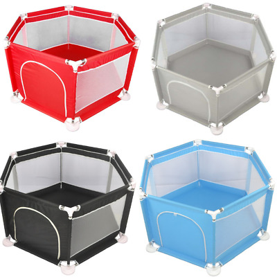 Baby Playpen 6 Sides with Round Zipper Door Play Pen for Toddlers