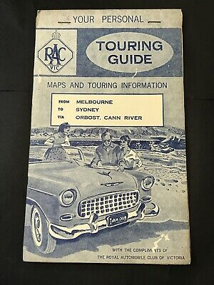 Vintage Road Map RAC VIC RACV TOURING GUIDE Melb - Sydney via Orbost, Cann River