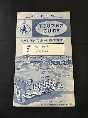 Vintage Road Map RAC VIC RACV TOURING GUIDE Melbourne - Phillip Is Princes Hwy