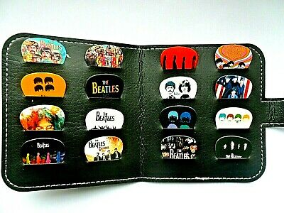 16 Different Stunning BEATLES   Guitar .71mm Plectrum // Picks With  Wallet