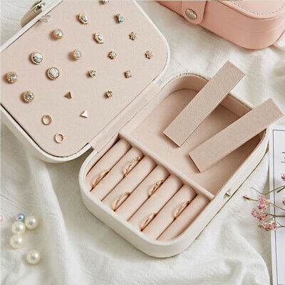 Portable Simple Small Jewelry Multifunctional Container Storage Box Travel AU!