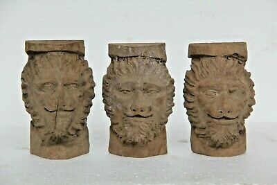 *NEW IN* 3 x HAND CARVED GOTHIC LION DEMON ARCHITECTURAL WOOD SCULPTURES