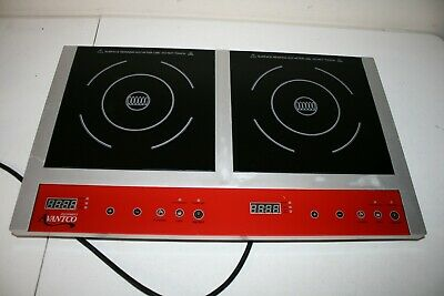 Avantco IC18DB Double Countertop Induction Range Cooker 120V  1800W