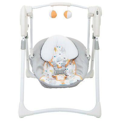 New Graco Linus Slim Spaces 2 In 1 Swing Suitable From Birth Compact Folding