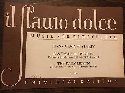 Il Flauto Dolce - Musik fur Blockflote - Hans Ulrich Staeps