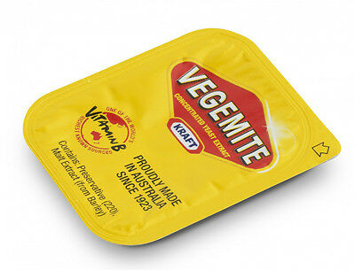 Vegemite  50 single serve portions - Australia's favourite snack