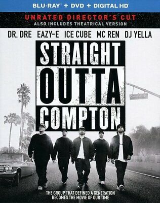 Straight Outta Compton (2 Disc, Directors Cut, Unrated) BLU-RAY NEW