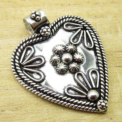 """ANCIENT STYLE Pendant 1.6"""" Gifts That Give Twice ! Silver Plated Jewellery NEW"""