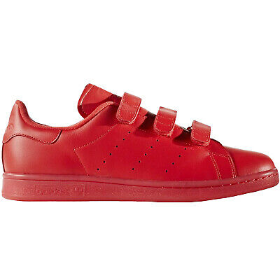 adidas Originals Mens Stan Smith Low Rise Casual Trainers Sneakers Shoes - Red