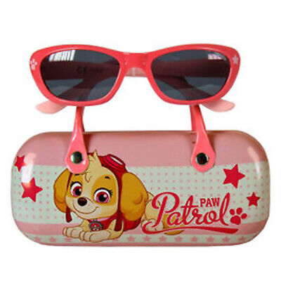 Paw Patrol Kids Girl`s Sunglasses With Case Pink 100% UV Protection Gift