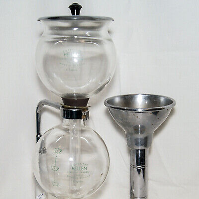 Cafetiere A Depression Hellem 6T + Couvercle + Tulipe Chrome Vacuum Coffee Set
