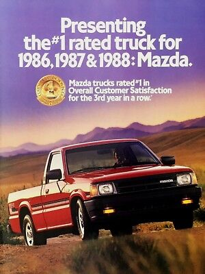 1988 Mazda B2200 Pickup Truck Red SE-5 Cab Plus Vintage Color Photo 4pg Print Ad