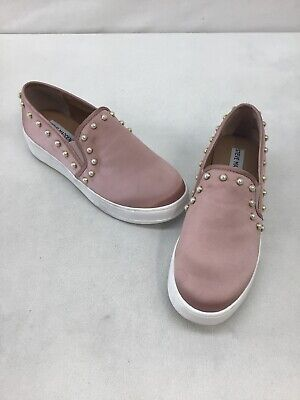f030be40a16 Steve Madden Genette Rose Gold Pearl Slip On Sneakers Size 7.5 C179 OOS