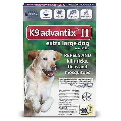 K9 ADVANTIX II for Extra Large Dogs over 55 lbs OPEN BOX
