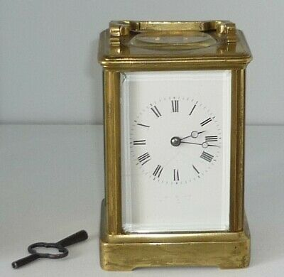 Antique Brass Cased Carriage Clock With Strike
