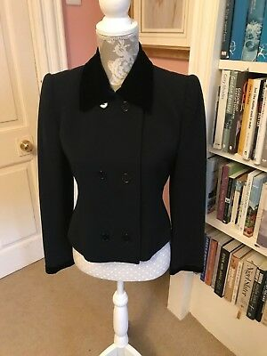 Givenchy Nouvelle Boutique Ladies Double Breasted Wool Jacket Size 38 / Uk10