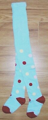 New Next Girls Tights 2-3 Yr Blue Polka Dots Cotton Red Spotty Party Top Jacket