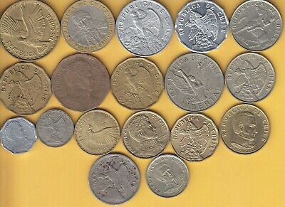 Chile  nice lot of coins