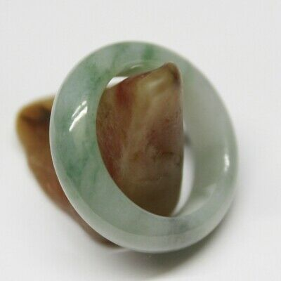 Size 10 1/2 ** CERTIFIED Natural (A) Beautiful Untreated Green Jadeite JADE Ring