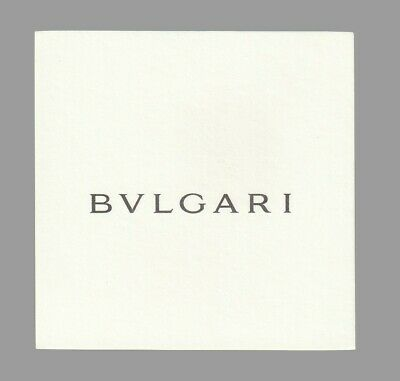 Carte publicitaire - advertising  card -  Bvlgari