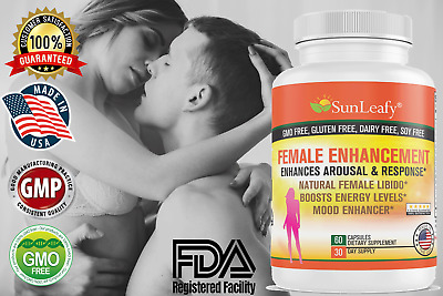 Female Libido Enhancement Sexual & Energy Booster - Veggie Capsules - Made in US