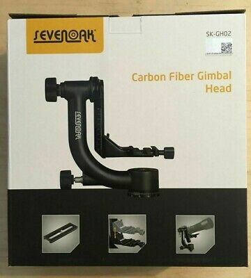 SK-GH02 Carbon Fiber Gimbal Tripod Head with Arca-Swiss Quick Release Plate