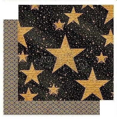 Graphic 45 Vintage Hollywood Collection 12 x 12 Star Studded Stars Cardstock