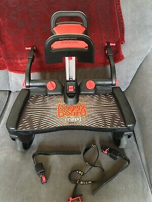 Lascal Buggy Board Maxi with Ride On Saddle seat,  connectors And Strap
