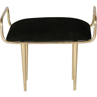 Renwil CHA040 Delice 20 inch Antique Brass and Black Stool, Small