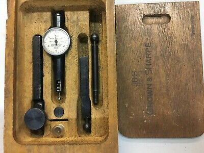 """Brown and Sharpe BesTest 7025 Dial Indicator .0005-.060"""" Machinist Tool Swiss"""