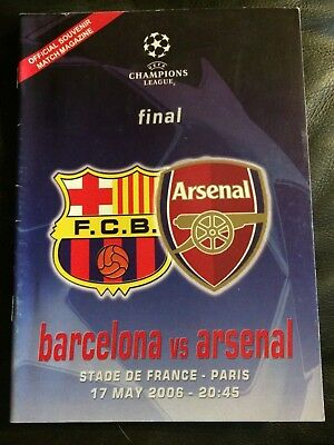 BARCELONA v ARSENAL 2006 UEFA CHAMPIONS LEAGUE FINAL IN PARIS - UNOFFICAL ISSUE