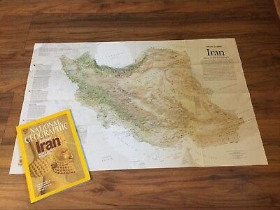 National Geographic Magazine August 2008 with Persian Empire Map, Iran.
