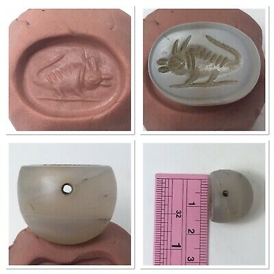medieval agate stamp seal intaglio unique