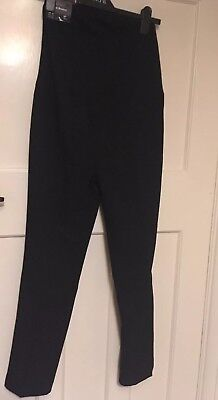 BNWT New Look Maternity Black Slim Bootcut Black Trousers Over Bump size UK 8 30