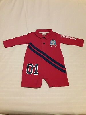 Baby Boys 0-3 Months Romper Thomas The Tank New In Pack
