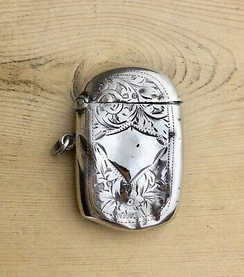 Antique Art Deco Solid Sterling Silver Vesta Matches Box By Thomas Marples 1917
