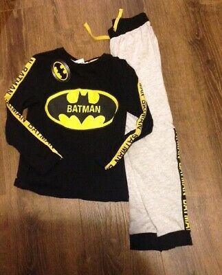Primark Batman kids childrens boys warm fleece pyjamas Primark age 7-10 years