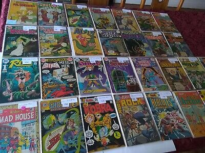 Huge Lot of 30 Silver, bronze, gold age comics DC, Archie other rare vintage