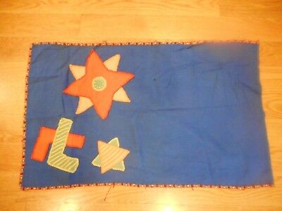 Vintage Hand made Huguenot Society Quaker Flag 8 & 5 Point Star Peace Frienship