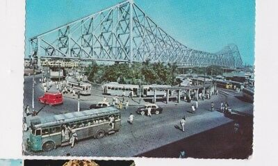 Vintage India Postcard Posted Rppc World Stamps 1969 Calcutta