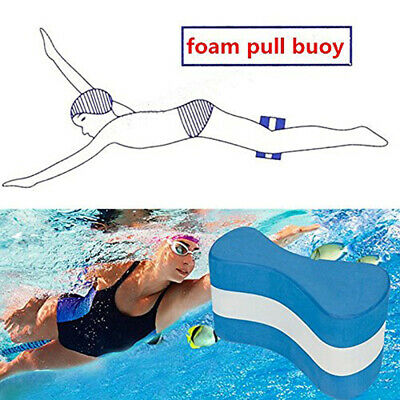 Kids Children Junior Swimming Aid Learning Training Foam Blue Pull Buoy Useful