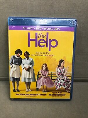 THE HELP (Blu-ray/DVD, 2011, 3-Disc Set, Includes Digital Copy) BRAND NEW/SEALED
