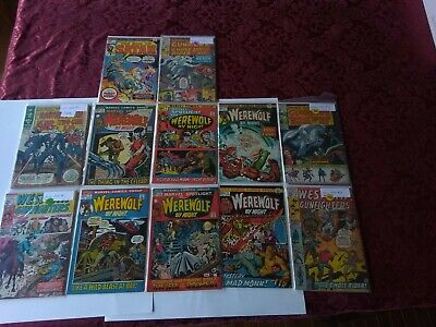 Huge Lot of 12 Silver and Bronze Age Marvel Comic Books rare vintage