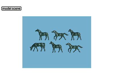 2 unharnessed Horses - Unpainted Langley A59 N Scale