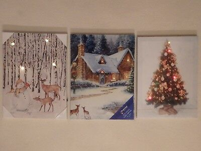 Christmas LED Light-up Canvas Picture (Choice of 3)