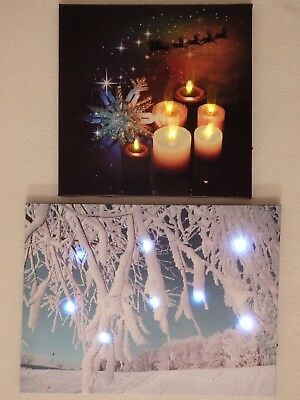 Christmas LED Light-up Canvas Picture (Choice of 2)